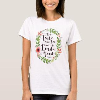 Camiseta Prove e veja que o senhor é bom t-shirt