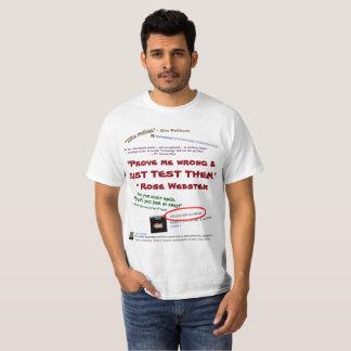 Camiseta Prove-me que errado apenas os teste por RoseWrites
