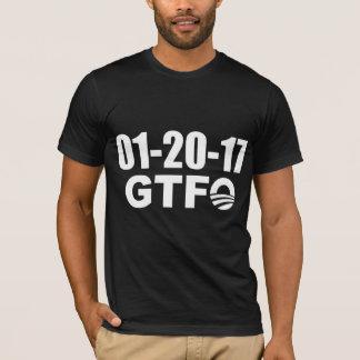 Camiseta Provérbio engraçado: O último dia de Obama - GTFO