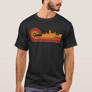 Camiseta Providência retro Rhode do estilo - skyline da