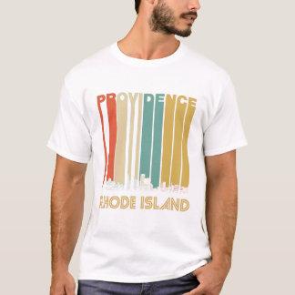 Camiseta Providência retro Rhode - skyline da ilha