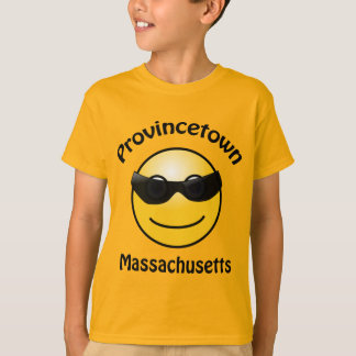 Camiseta Provincetown, Massachusetts Smilie caçoa o t-shirt