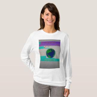Camiseta Próxima geração branca do t-shirt da Longo-Luva