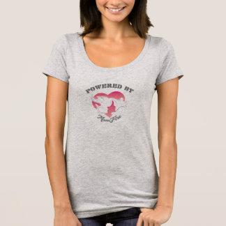 Camiseta Psto pelo t-shirt do pescoço da colher das