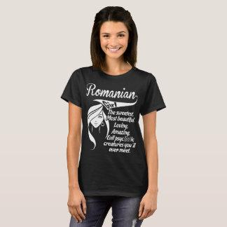 Camiseta Psychotic de surpresa bonito doce da menina romena