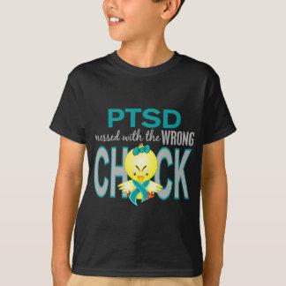 Camiseta PTSD sujado com pintinho errado