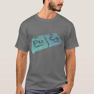 Camiseta Puce como o plutônio do plutônio e o cério do Ce