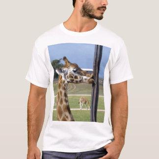 Camiseta Pucker engraçado do girafa acima daqueles lábios,