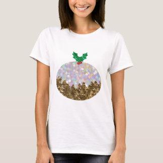 Camiseta pudins do Natal do sequin