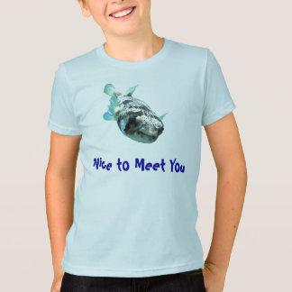 """Camiseta Pufferfish curiosos do porco- """"agradáveis para"""