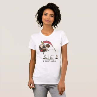 Camiseta Pug bonito | do unicórnio meu animal do espírito
