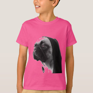 Camiseta Pug cor-de-rosa