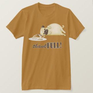 Camiseta Pug da acção de graças
