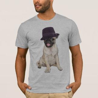 Camiseta Pug de Fedora