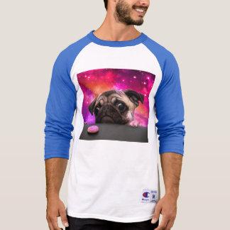 Camiseta pug do espaço - comida do pug - biscoito do pug