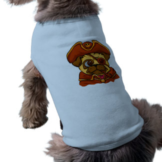 Camiseta Pug do pirata