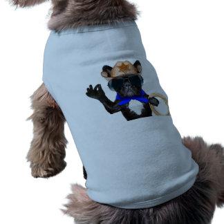 Camiseta pug do vaqueiro - vaqueiro do cão