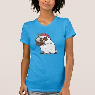 Camiseta Pug dos desenhos animados no traje Pugicorn do