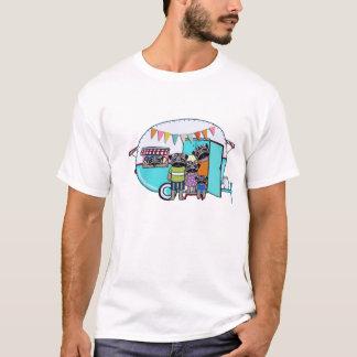 Camiseta Pugs do reboque do vintage
