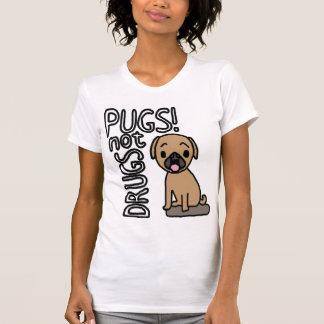 Camiseta Pugs menos as drogas