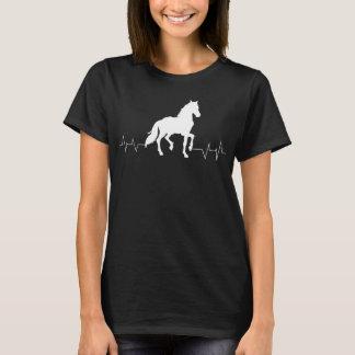Camiseta Pulsação do coração do cavalo