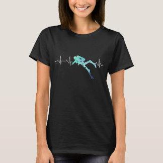 Camiseta Pulsação do coração do mergulho