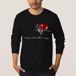 Camiseta Pulsação do coração legal do t-shirt dos homens do