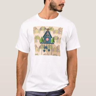 Camiseta Pulso de disparo de cuco com papel de parede da