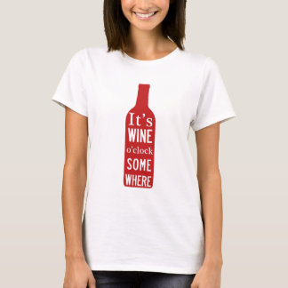 Camiseta Pulso de disparo do do seu vinho 'em algum lugar