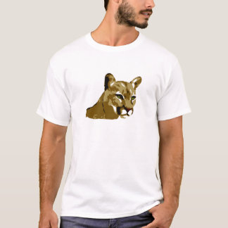 Camiseta Puma - design do leão de montanha - puma selvagem