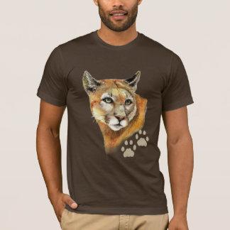 Camiseta Puma do puma da aguarela, leão de montanha, animal