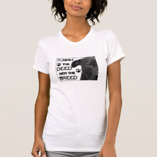 Camiseta Puna a AÇÃO não a RAÇA - direitos de Pitbull!