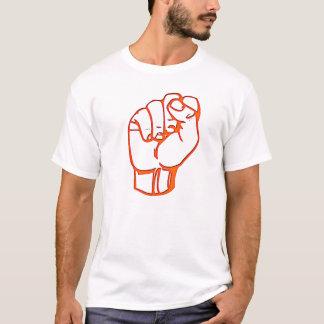 Camiseta punho alaranjado, no t-shirt alaranjado