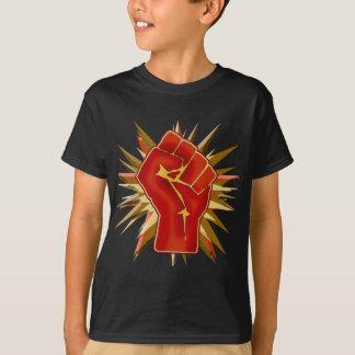 Camiseta Punho vermelho da solidariedade a personalizar no