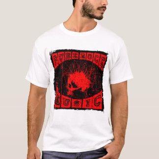 Camiseta punk do crânio