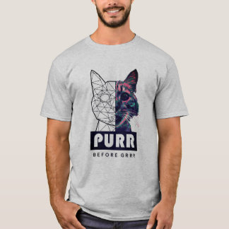 Camiseta Purr antes do t-shirt de GRRR