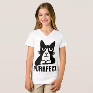 Camiseta PURRFECT, CAT do GATINHO da PANDA caçoa t-shirt (o