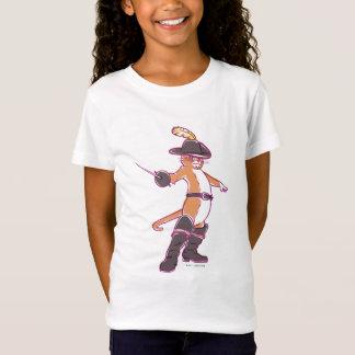 Camiseta Puss na ilustração das botas