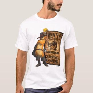 Camiseta Puss querido nas botas (carvão animal)