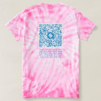 Camiseta QR-Roupa do SUMO, QR-Código traseiro/texto, 3:3