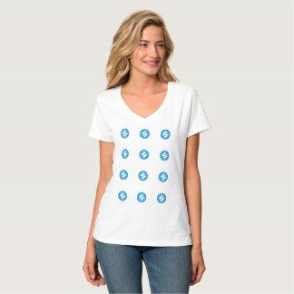 Camiseta QR-Roupa do SUMO, QR-Código traseiro/texto, 4:3