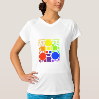 Camiseta quadrada da cor - mulheres