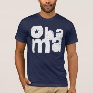 Camiseta Quadrado corajoso de Obama (marinho)