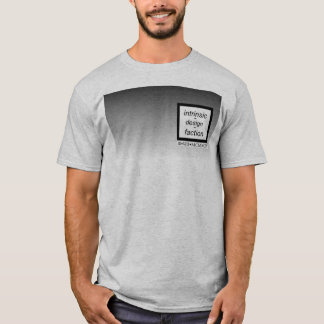 Camiseta Quadrado esquerdo da caixa com inclinação