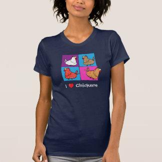Camiseta Quadrados da cor das galinhas dos desenhos