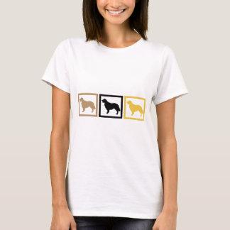 Camiseta Quadrados do golden retriever