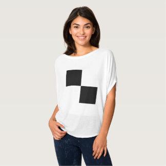 Camiseta Quadrados preto e branco