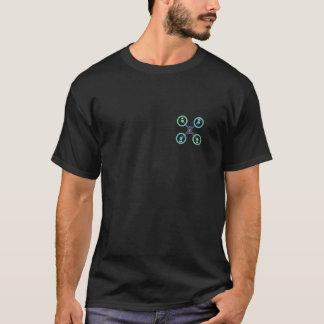 Camiseta Quadrilátero X do zangão de DIY