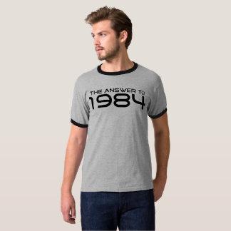 """Camiseta Qualidade """"a resposta a 1984"""" T"""