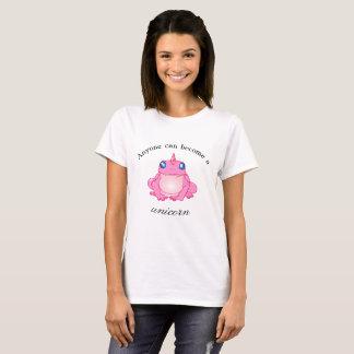 Camiseta Qualquer um pode transformar-se um t-shirt do